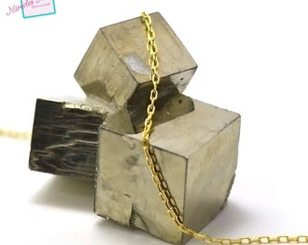 """chain """"3"""" rectangle 1 m x 2 mm gold 02"""