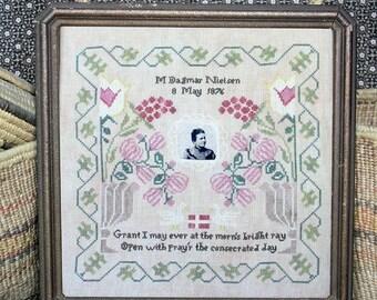Great Grandma Dagmar's Birth Sampler : Cross Stitch Pattern by Heartstring Samplery