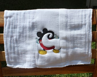 Mickey Mouse Letter Burp Cloth