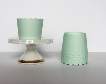 Mint Treat Cups / Mint Baking Cups / Treat Cups / Baking Cups / Mint Green / Snack Cups / Candy Cups