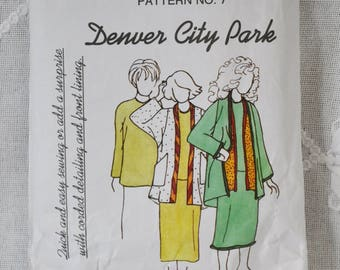 Park Bench Pattern Company No 7 Sewing Pattern Misses Skirt Jacket Top Size 12 - 18 DIY Fashion Sewing Crafts PanchosPorch