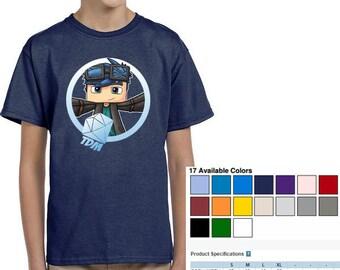 Awesome Gildan Tshirt DanTDM Minecraft, The Diamond Minecraft Shirt, Minecraft Creeper Tshirt, Youtube Fans Tee