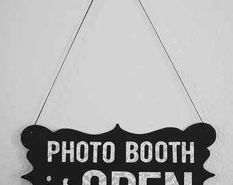 Photo Booth Prop - Open / Closed Sign (2-sided)