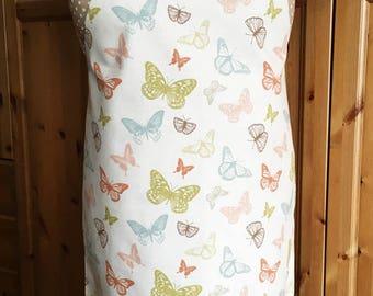 Full length apron - butterflies print