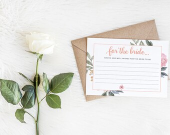 Floral Advice and Well Wishes for the Bride Cards