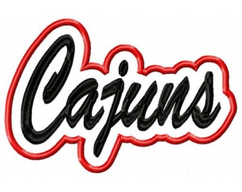 Cajuns Embroidery Machine with a Shadow Applique Design 2839