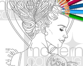 Love Do – Digital Download Coloring Page, Adult Coloring, Relaxing, Fashion, Glamourista, Colouring, Digi Stamp, Printable, ModernColoring