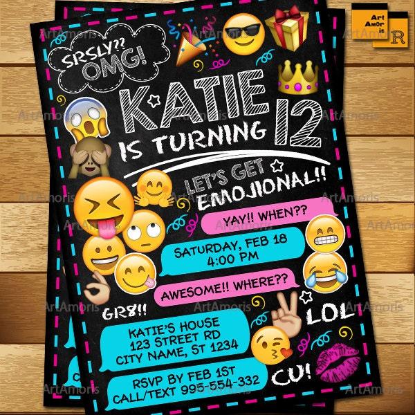 Emoji invitation emoji birthday invitations teen birthday description emoji invitation emoji birthday stopboris Gallery