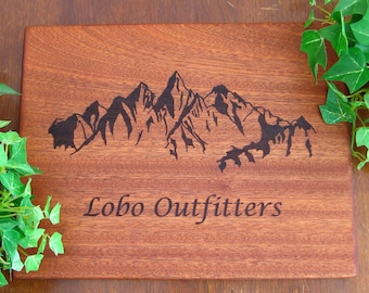 Personalized Engraved Cutting Board, Colorado Rocky Mountain, Wedding Gift, Housewarming, Anniversary, Birthday, Fathers Day, Mothers day