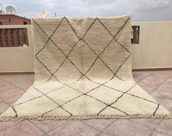 9x12 Large white Moroccan rug - Beni ourain Mrirt rug - Wool Area rug - Berber carpet - Beni ourain carpet - Boho rug - Morocco - Teppish