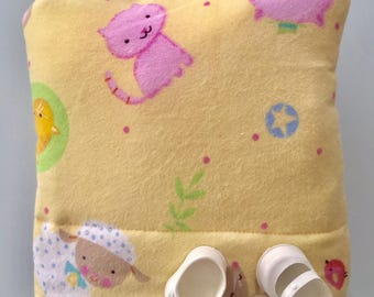 Baby Doll Bunting Baby Bag Pillow Blanket in One for Dolls Original Design Nursery