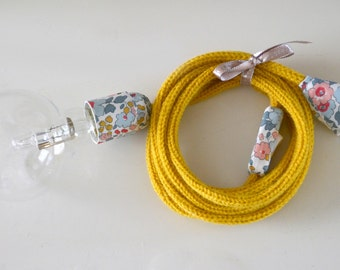 lamp light mustard knitting and LIBERTY Betsy porcelain knitting mill