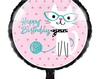 Pretty Kitty Birthday Party Balloon/ Cat Birthday Party Balloon/ Kitty Party Balloons/ Cat Party