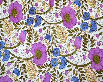 Boho Fabric, Gypsy Fabric Indian Cotton Fabric by yard Quilting Cotton, Fabric by the Yard, Summer Dresses in Floral Print, crafting