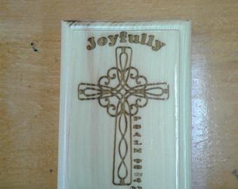 Joyfully Praise him Plaque