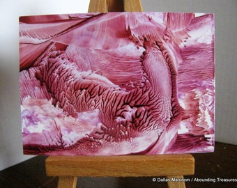 Marsala Waves ACEO Encaustic (Wax) Abstract Original Painting.  Abstract Wax Art, Collectible Art. SFA (Small Format Art)