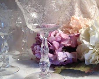 Elegant Cambridge Chantilly Pattern #3779 Champagne Glasses