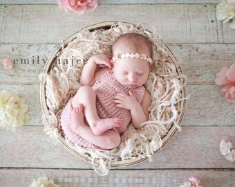 Knit Newborn Sunsuit Romper (Halter) Bodysuit- MADE TO ORDER