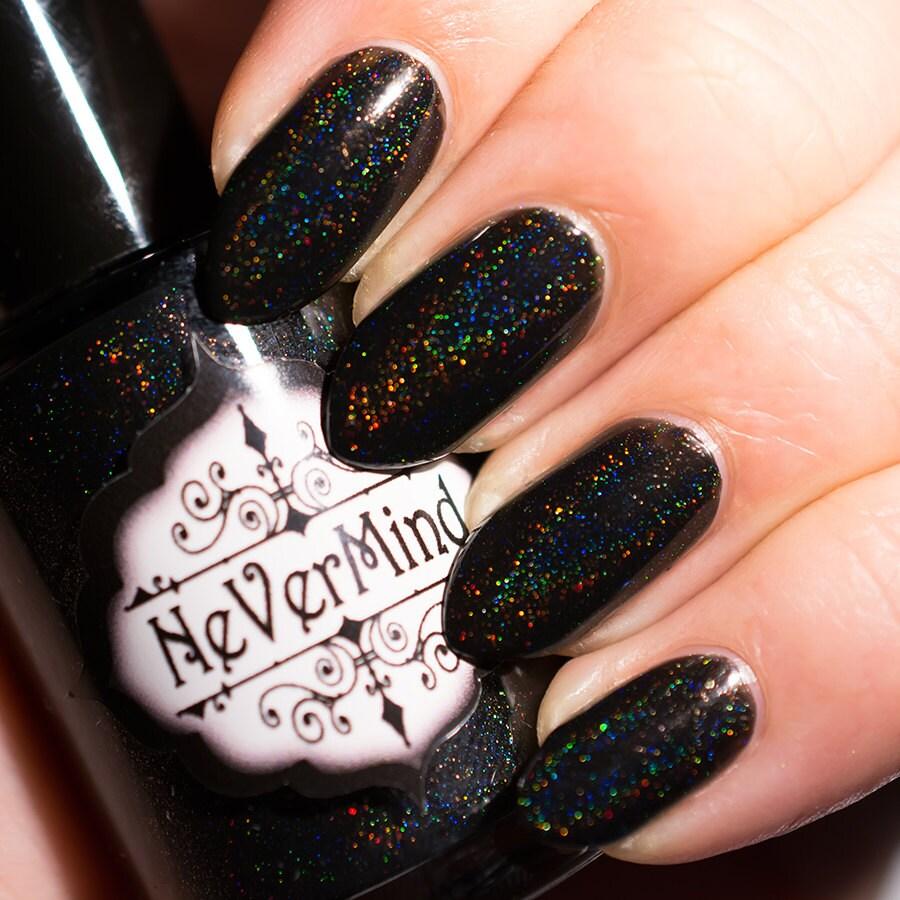 Schwarze lineare Holo-Nagellack holographische Nagellack