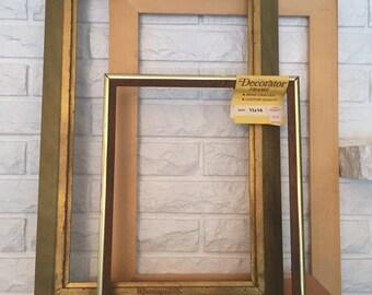 3 Large Vintage Wooden Frames