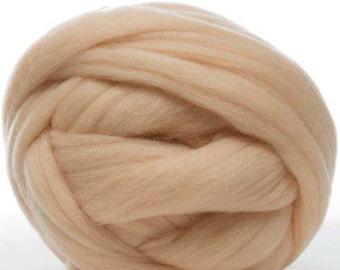 Merino Wool Top - 22.5 micron -Flesh - 4 ounces