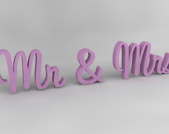 Mr and Mrs wedding wooden signs decorative freestanding letters decor sweetheart table gift idea