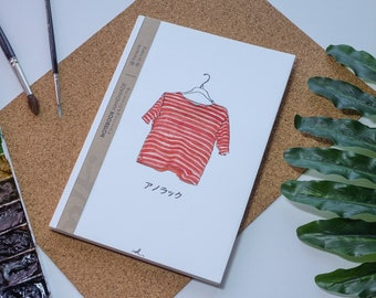 Chemise aquarelle carnet de notes à la main, couverture rigide journal, Illustration, carnet, carnet de croquis, journal intime, cadeau, 21 × 14.8