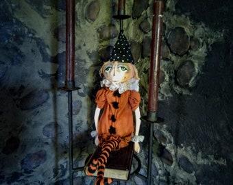 Pumpkin Head Man - Pumpkin Doll - Handmade Doll - Primitive Doll - Primitive Halloween Decor - Halloween Decor - Jack O'Lantern Doll - Fall