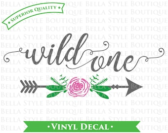 Wild One Baby Girl Nursery Arrow VINYL DECAL
