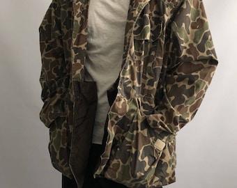 Men's Rare Vtg Made In USA Duck Camo SafTBak Jacket Sz L XL