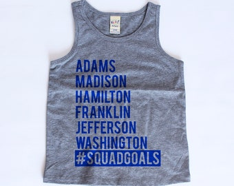 Squad Goals 4th of July Kids Tank Top | Squad Goals Tank Top | 4th of July Toddler Tank | 4th of July Shirt For Kids | Baby Tank Tops |