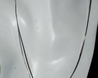 Sterling medium octagon snake chain. 18 inches.