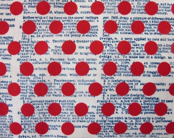 "Riley Blake Designs ""Lost & Found Americana"" By Jen Allyson. 100% cotton, pattern C5982—RED Dots"