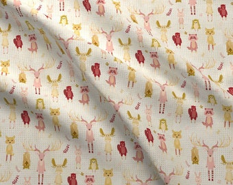 Wild Animals In Socks Fabric - Dotty Wild Animals In Socks By Katherine Quinn - Dots Spots Animal Cotton Fabric By The Yard With Spoonflower