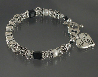 It's Hip To Be Square Mother's  Name  Bracelet