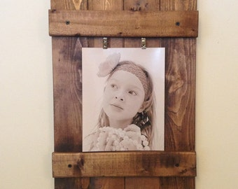 Wooden Picture Frame, Rustic Wall Frame, Wall Art, Rustic Picture Frame, Rustic Decor, Distressed Frame, Home Decor 8x10 Photo