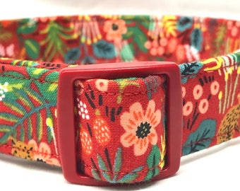 Rifle Paper Co. Fabric Red Dog Collar Boy Girl Male Female Menagerie Jungle