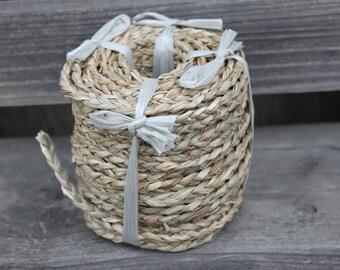 Braided seagrass 1/4 inch width 5 yards-Tahitian costumes, weaving, natural trim, Polynesian decor, Polynesian dance, rope,