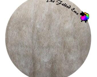 Needle Felting Wool Batt / HFB21 Fawn Carded Wool Fluffy Batt