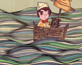 RICHIE A4 Art Print by Winnifreds Daughter