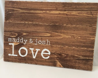 Personalized wood guest book, Wedding Guest Book, Guest book alternative