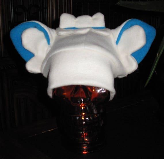 Alolan Vulpix winter fleece ear hat in 6 sizes
