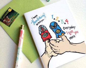 Thumbthing To Tell You Greeting Card