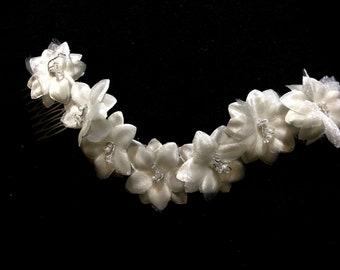 Handmade Silk Flower Bridal Hair Wreath