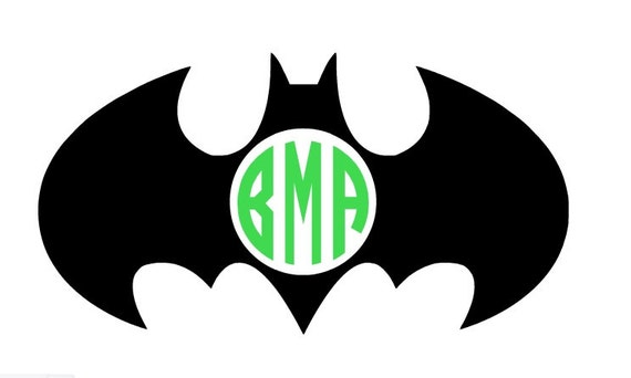Batman decal monogram decal personalized decal batgirl decal circle monogram decal batman sticker car decal yeti decal vinyl decal from