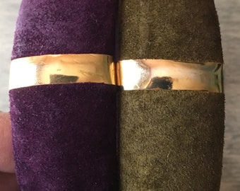 Vintage Studio 54 Nights Suede Bangles | Set of 2
