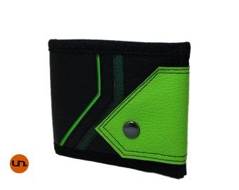 Oblique, Handmade Personalized Wallet, Vegan Friendly, Vegan Leather Wallet, Bifold, Billfold, Mens Leather Wallet, Womens Wallet, UNUSUAL