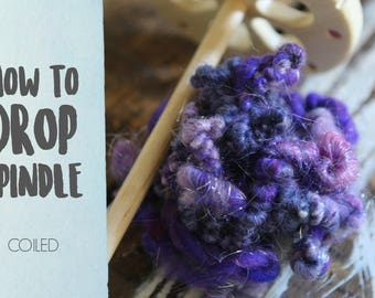 SPINDLING Coiled Art Yarn - How to Spin Art Yarn on a Drop Spindle - One HD Video Tutorial from How to Spin Yarn