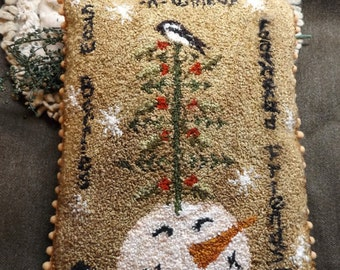 Pattern: Snow Berries N Winter Feathered Friends Punch Needle by Kanikis Prims and Whims