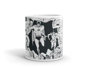 Batmania Batman and Robin Comic Mug (11 or 15 oz)
